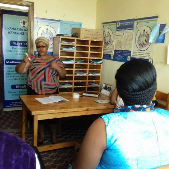 TAWLA regional office in Dodoma conducted a Self representation training.