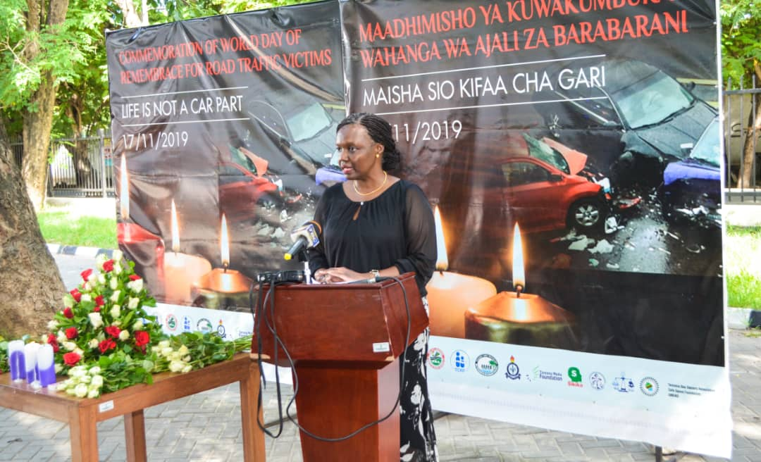 TAWLA Vice Chairperson Advocate Happiness Mchaki addressing stakeholders during the commemoration which took place today 17th November 2019