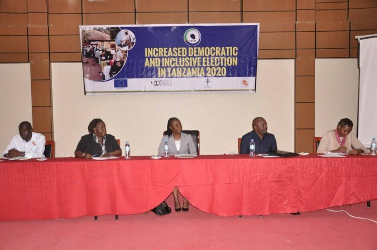 LAUNCHING OF THE INCREASED DEMOCRATIC AND INCLUSIVE ELECTION IN TANZANIA(IDIET) 2020 PROJECT